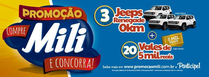 Promoção da Mili sorteia carros e prêmios em dinheiro - ACATS d6ffe83883