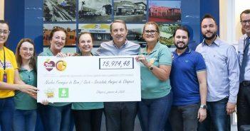 Celeiro faz doação do resultado de campanha