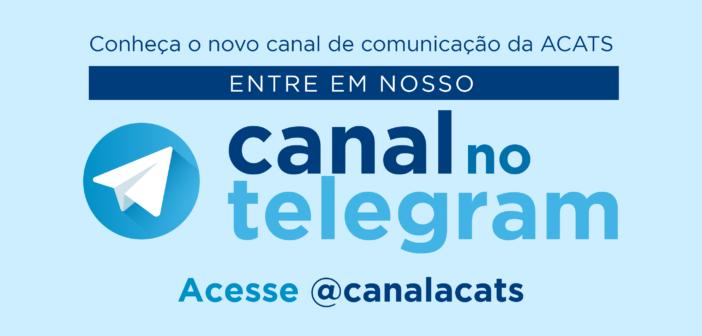 Ativado o @canalacats no Telegram